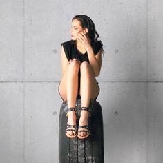 Sparta Black Sandal. #studdedsandals #studs #blacksandals