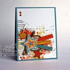 Be the Star plus Gorgeous Grunge - Stampin Up - Teen Guy Birthday Card