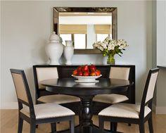 Elegant Transitional Dining Room by Elizabeth Meyerson on HomePortfolio