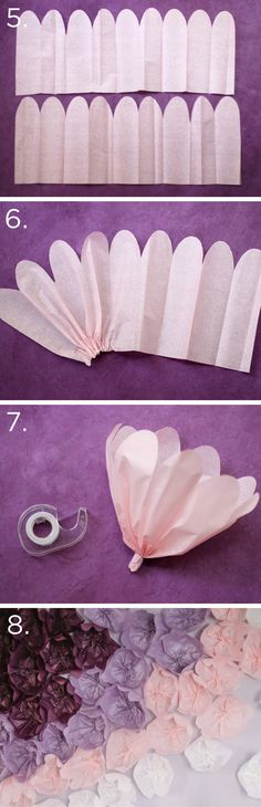 DIY Tissue Flower Backdrop