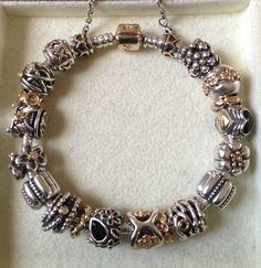 688d96d4b Love all the retired two-tones. Pandora Bracelet Charms, Pandora Jewelry,  Pandora