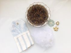 To celebrate the launch of our new season fabrics, we're showing everyone how to create their own DIY lavender sachets. Diy Lavender Bags, Lavender Sachets, Lavender Scent, Embroidery Scissors, Fabric Scissors, Ashley Store, Shabby Chic Pillows, Scented Sachets, Fabric Cards