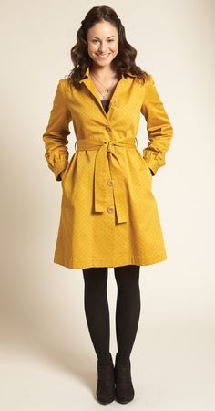 Fairtrade, organic Orla Kiely trench for People Tree.