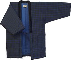 fc80900143e HANTEN (Cotton jacket made in Japan Kimono-style) Japanese clothes X-Large  Size Men's - X-Large, 166 ** Want additional info? Click on the image.