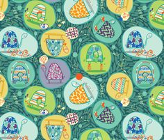 Tumble Turtles fabric by gsonge on Spoonflower - custom fabric