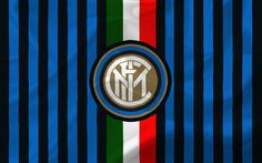 Download wallpapers Internationale, football club, Italy, Inter Milan, Serie A, Internationale logo, football