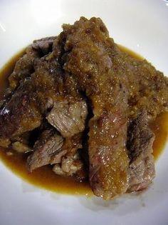 Soft Beef Steak with Wasabi Sauce