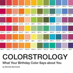 Here's What Your Pantone Birthday Color Says About You. Not sure I buy this, but I love the colors.