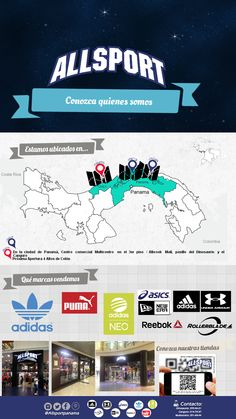 Descubre a través de esta infografía dónde estamos ubicados!! somos #Allsport tu mejor opción en ropa deportiva!!! #BeCool #BeWarrior #BeAllsport #Sports #Mapa #Pinterest #PinIt #Mapping #Ubicaciones #Vamos #Go #YoComproAllsport #Deportes #Tiendas #DeportesPanama