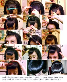 Faux Bang Tutorial. Now this style is substitute for using a hair rat. It looks like something to at least try once to see how it looks.