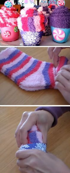 Sock Cupcakes | Last Minute DIY Christmas Gifts for Kids | Easy to Make Christmas Gifts