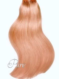 Get ready for summer with our gorgeous multi-dimensional light peach, pastel blonde. This ult Icy Blonde, Silver Blonde, White Blonde, Tape In Hair Extensions, Best Virgin Hair, Orange, Peach Hair, Ponytail Extension