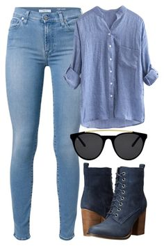 """Zappos Steve Madden"" by deedee-pekarik ❤ liked on Polyvore featuring 7 For All Mankind, Steve Madden, Smoke & Mirrors, denim, Bootie and zappos"