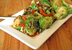 asian brussels sprouts, brussels sprouts recipe