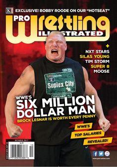World Championship Wrestling, Wrestling News, World Soccer Magazine, Brock Lesnar Wwe, Article On Women, Professional Wrestling, Professional Football, Million Men