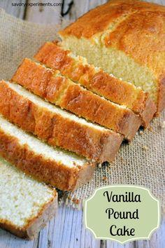 Vanilla Pound Cake Recipe- Every home cook needs a classic vanilla pound cake recipe.  www.savoryexperiments.com