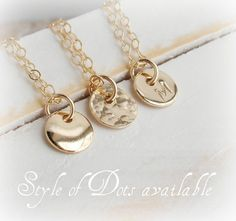 f616c5a9872b TINY Dainty Gold Disc Necklace 14K Gold fill Smooth Joyas De Plata