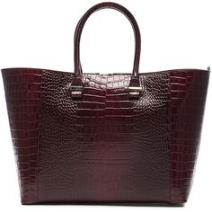 Victoria Beckham Printed Crocodile Liberty Tote (7,465 CNY) ❤ liked on Polyvore featuring bags, handbags, tote bags, strap purse, croc tote bag, victoria beckham, victoria beckham purses and crocodile handbag