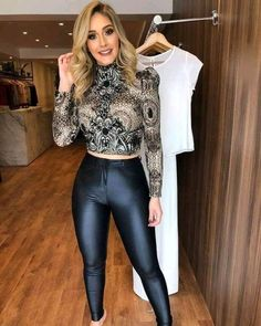 Swans Style is the top online fashion store for women. Shop sexy club dresses, jeans, shoes, bodysuits, skirts and more. Disco Pants Outfit, Leather Pants Outfit, Tights Outfit, Classy Outfits, Chic Outfits, Fashion Outfits, Womens Fashion, Cute Fashion, Look Fashion