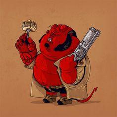Alex Solis - The Famous Chunkies Hellboy