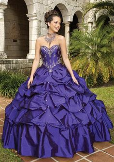 Prom Dresses Ball Gown Sweetheart Floor Length Quinceanera Dresses With Ruffle Beading , You will find many long prom dresses and gowns from the top formal dress designers and all the dresses are custom made with high quality Quince Dresses, 15 Dresses, Modest Dresses, Pretty Dresses, Beautiful Dresses, Formal Dresses, Purple Quinceanera Dresses, Cocktail Vestidos, Prom Dress Shopping