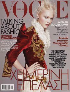 Sasha Pivovarova by David Sims Vogue Hellas November 2008