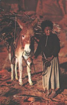 US - Navajo Lass and her Burro by quiet_place, via Flickr