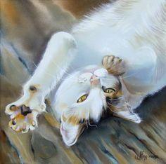 Peinture sur soie d' Annette Loginova