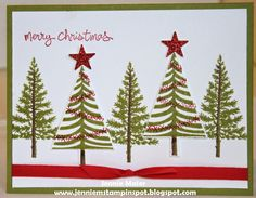 Jennie M's Stampin Spot: Clean and Simple Christmas Trees  Stampin' Up!