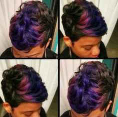 Love this color combo by - Black Hair Information Community Dope Hairstyles, Cute Hairstyles For Short Hair, Pretty Hairstyles, Curly Hair Styles, Natural Hair Styles, Black Hairstyles, Female Hairstyles, Woman Hairstyles, Hairstyle Ideas
