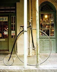 Everyone's favorite photograph on Etsy. Victorian Bicycle in New Orleans. Photo by Heather Green of Briole.