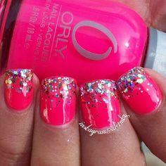 Hot pink & glitter!