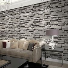Grey Charcoal Slate 3d Effect Stone Brick Wall Textured Wallpapers Backdrop Home Brick Wallpaper Grey Brick Wallpaper Brick Wall Wallpaper