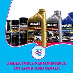 Yamalube… for unbeatable performance on land and water.   #Automotiveart #Yamalube #performanceenhancing #watersports #bikes #scooters #Yamaha