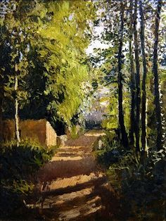 Path in a wood in Normandy (19th century) Gustave Caillebotte