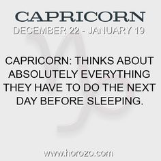 Fact about Capricorn: Capricorn: Thinks about absolutely everything they have... #capricorn, #capricornfact, #zodiac. More info here: https://www.horozo.com/blog/capricorn-thinks-about-absolutely-everything-they-have/ Astrology dating site: https://www.horozo.com