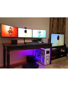 Check out this sleek setup found from @dream_setups! I think this setup is pretty much dead on for being awesome. No wires are showing the monitors are mounted properly lighting looks good and the PC this guy has looks really cool! Overall this is one great setup. What do you guys think? Definitely share your thoughts down below! ------------------------------------ Use #officialsetups with a photo of your setup to have a chance to be featured on this…