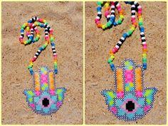 hamsa hand perler by OBXKandiQueen - Kandi Photos on Kandi Patterns