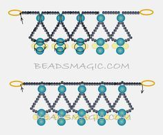 Free Pattern For Beaded Necklace Protaras | Beads Magic