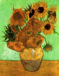 Still life: vase  fifteen sunflowers -  vincent van, In august, 1888 vincent van gogh began painting  series  works ,  dr. Description from shortnewsposter.com. I searched for this on bing.com/images