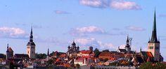 Estonia. Churches in Tallinn old town.
