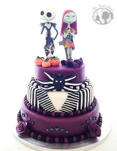 Since Your Anniversary Is Coming Up Soon Nightmare Before Christmas Wedding Cake