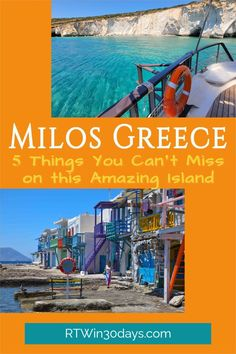 Never heard of Milos? Come discover one of the most beautiful Greek islands with this detailed guide to all that is Milos! From breathtaking beaches to delicious restaurants and affordable hotels, we've got you covered on what's new in 2021. Pack your bags and get ready for a true Greek adventure today! Santorini Travel, Santorini Greece, Greece Travel, Beautiful Places To Visit, Beautiful Beaches, Most Beautiful Greek Island, European Travel, Travel Europe, Beach Trip