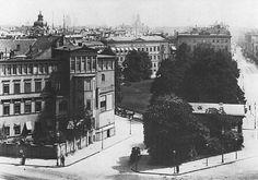1870 Die Haeuser Leipzigerplatz 18-19,das Tuermschen vom Mosse-Palais schaut keck ueber die Daecher hinweg