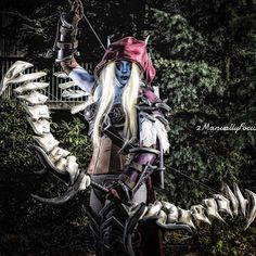 I literally cropped my biz name because the small format of IG doesn't give this #image of @40_below_cosplay_and_props justice.  I tried to bring out the #cosplay details by #properlighting and then #postedit. I like it. . . . #sylvanascosplay #wow #worldofwarcraft #sylvanaswindrunner #cosplayer #cosplayshoot #cosplayphotography #cosplayphotographer #pnw #pnwlife #canonshooter #canon #westcott #lightroom #ps #eccc2018 #eccc #armor #forthehorde