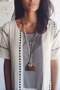 tunic and statement necklace