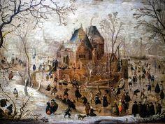 Hendrick Avercamp - Winter Landscape, at Wallraf-Richartz Museum Cologne Germany European Paintings, Old Paintings, Beautiful Paintings, Landscape Paintings, Amsterdam, Winter Szenen, Dutch Golden Age, Baroque Art, Winter Images