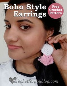 Crochet Boho Style Earrings Free Pattern - Crochet For You