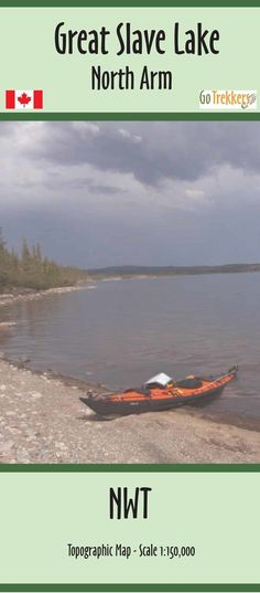 Great Slave Lake North Arm Map   Canoe Routes   by GoTrekkers