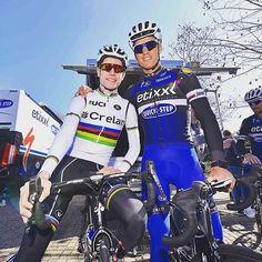 Wout van Aert & Zdenek Stybar Milan San Remo training @tdwsport